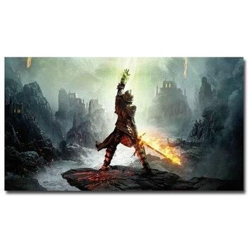 Шелковый Плакат Гобелен Dragon Age 3