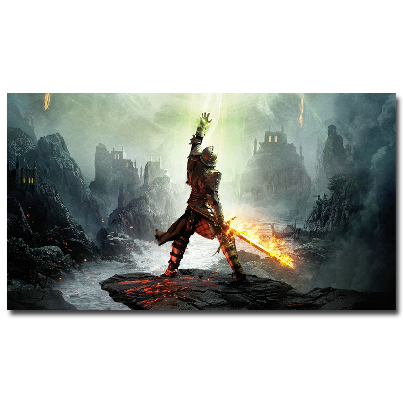 Dragon Age 3 Inquisition Hot Art Silk Poster Print 13x24 24x43 Inch Wall Pictures For Living Room Decor 020 In Painting Calligraphy From Home