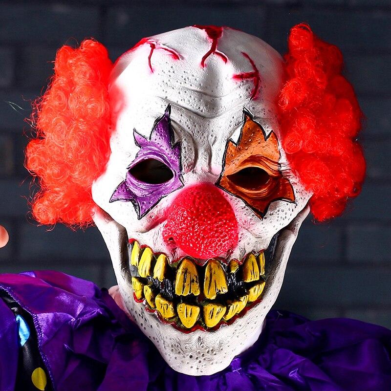 H & D punase nina klouni mask Circus hirmutav tapja halloween õudus - Pühad ja peod - Foto 3