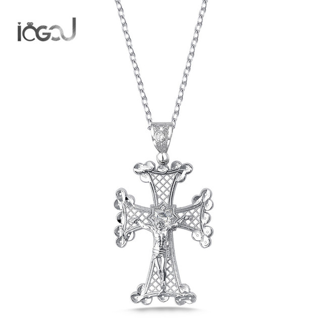 Iogou 925 sterling silver hollow cross pendants men women hip hop iogou 925 sterling silver hollow cross pendants men women hip hop anniversary jesus pendants for necklace aloadofball Image collections