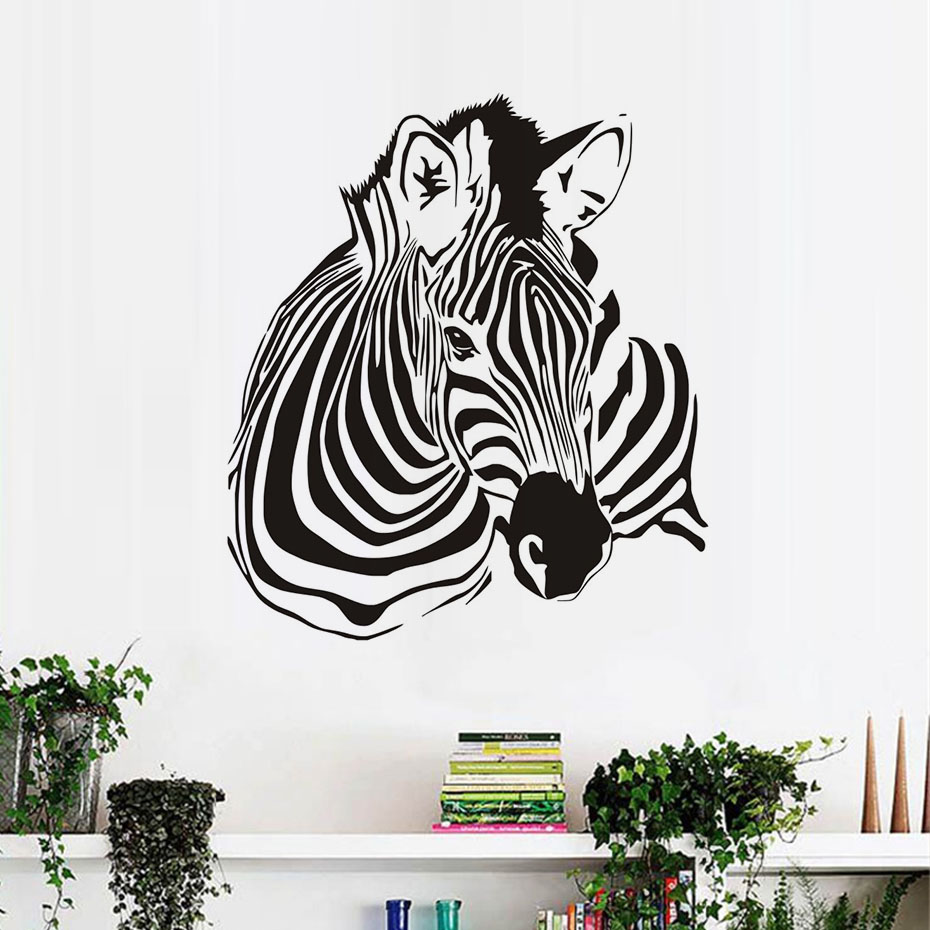 Exceptional Zebra Wall Stickers For Kids Rooms Wall Decor Removable Waterproof Animal  Wall Art Decals Wallpaper Home Decoration A In Wall Stickers From Home U0026  Garden On ...