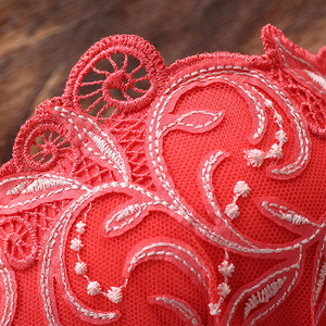 Image 5 - Lilymoda Women Bra Brief Sets Sexy Floral Embroidery Push Up Cup Bra and Panty Seamless Panties Female Brassiere Lingerie Red