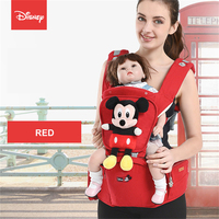 Disney Waist Stool Holding Stool Mickey Cartoon Printing Front Hug Multifunctional Baby Carrier Breathable Fabric Ergonomics