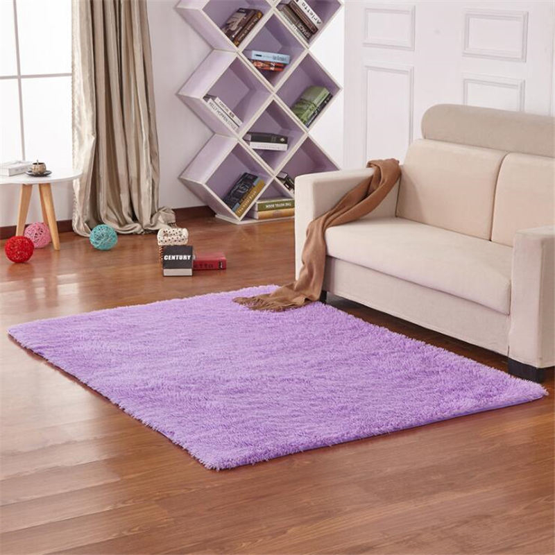 AOVOLL Rugs And Carpets For Home Living Room Soft Long Hair Carpet Non-slip And Anti-wrinkle Floor Mat  Rugs For Children Rooms
