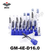cnc tools GM-4E-D16.0 high speed milling cutter side milling and slot milling 16mm 4 flute fresas para madera end mill zcc ct