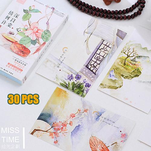 unids elegante clsico estilo de la pintura china postal diy tarjeta de