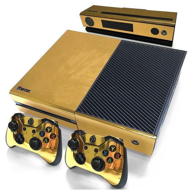 Autocollant de peau brillant or pour contrôleur de Console Xbox ONE + vinyle autocollant Kinect Compatible avec console Xbox One