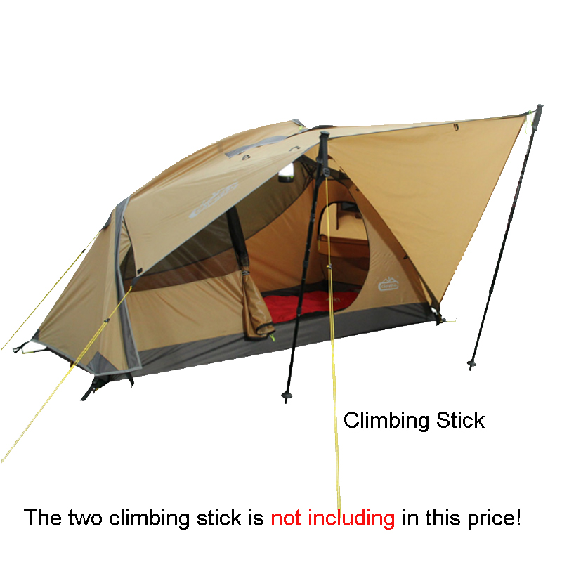 Outdoor Winter Tent Aluminum Alloy Mountaineering Tourist Tents Ultralight Camping Tent 1 Person high quality outdoor 2 person camping tent double layer aluminum rod ultralight tent with snow skirt oneroad windsnow 2 plus
