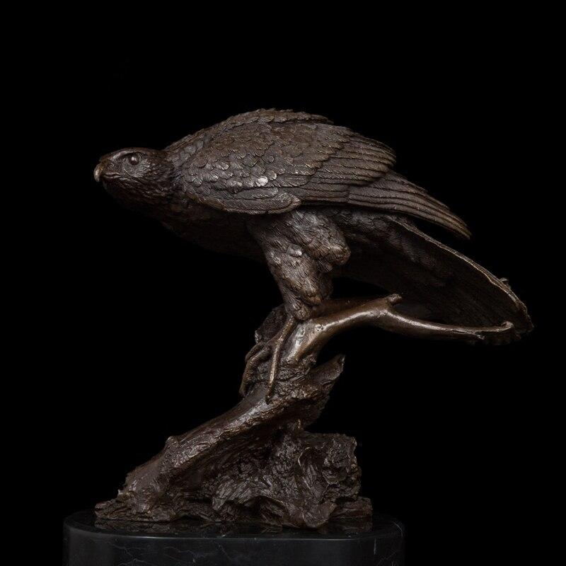 Western styles Bird of Prey Best  Selling 100% Bronze  Night Eagle  Figurine Signed by J.Moiguiez wildlife sculptureCZW-008Western styles Bird of Prey Best  Selling 100% Bronze  Night Eagle  Figurine Signed by J.Moiguiez wildlife sculptureCZW-008