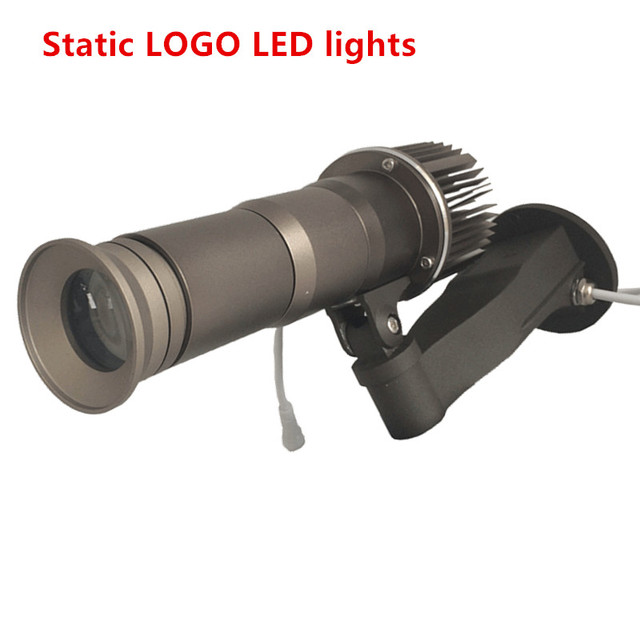 Logo Projector 10W 20W LED Rotating Image 5000 Lumens Dynamic advertising lamps Waterproof IP65 with 1pcs 2 Colors Gobo lens
