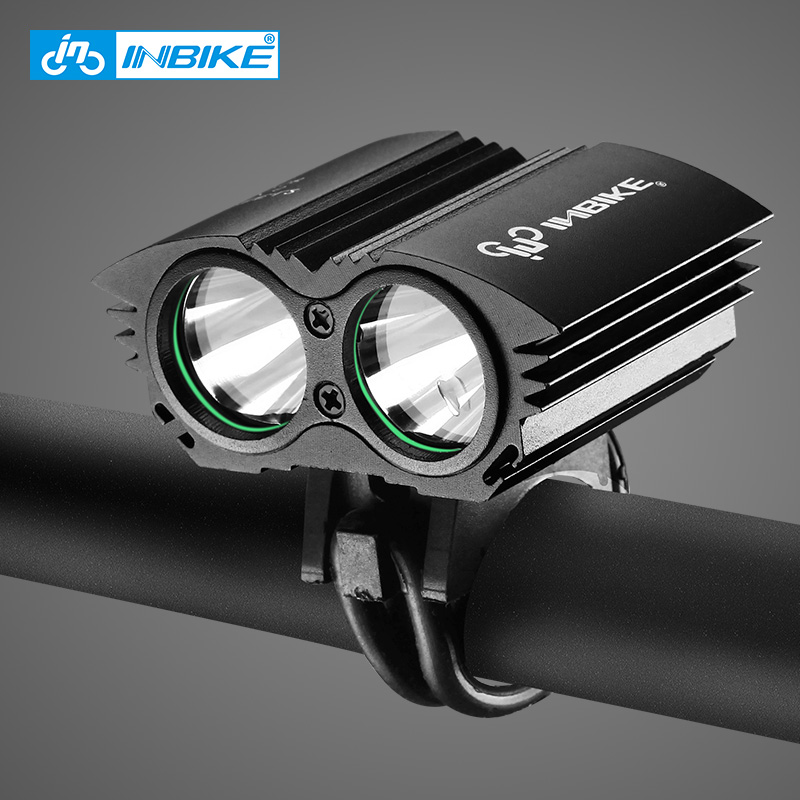 INBIKE Bike Light Waterproof Flashlight for Bicycle Handlebar LED USB Charging MTB Bike Lights T6 L2