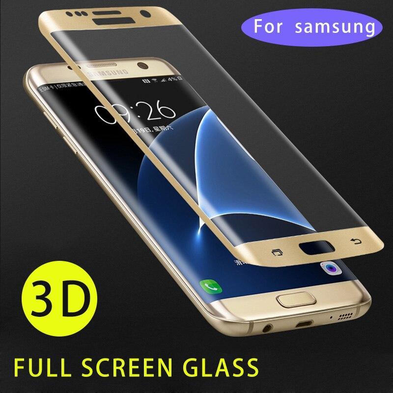 Ультра тонкий прозрачный 3D 9 H Стекло полное покрытие для samsung Galaxy S7 край S9 S8 плюс Note8 9 защитный свет Экран изогнутые Стекло