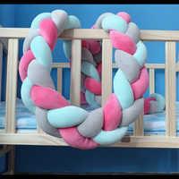 Детские бамперы для кроватки, для новорожденных, ручная работа, плетеная подушка, подушка для детской кроватки, бампер для детской кроватки,...