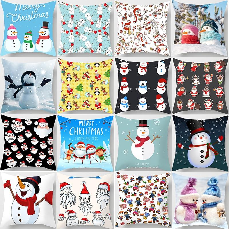 Christmas Pillow Cases Women Men Square Pillow Case Cute Cartoon Pillow Covers Size 45*45cm