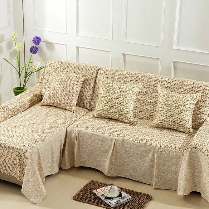 Free Shipping Pure Cotton Fabric Printed Single Double Sofa Towel