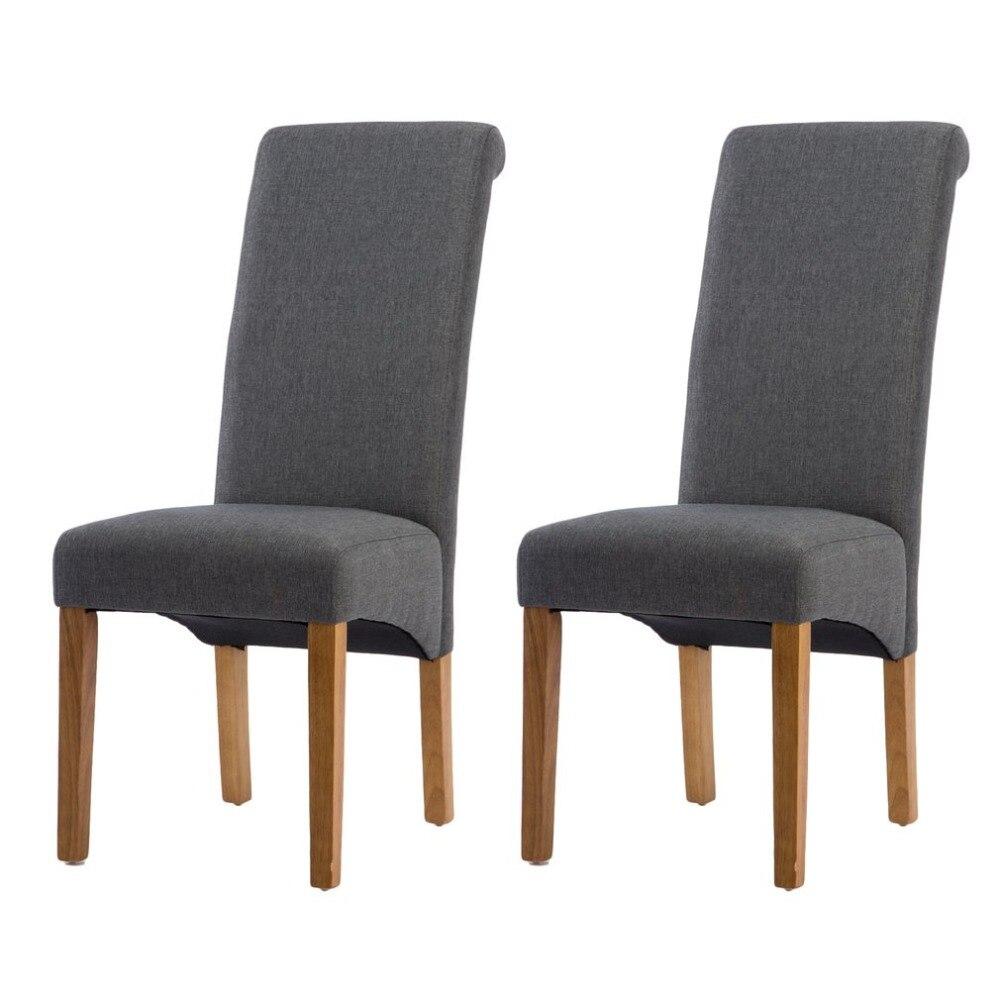 2 PCS Modern Fashion Dining Chairs High Back Springed Seat Kitchen Room Breakfast Home Ergonomic Decorative Furniture цена 2017