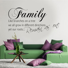 Family Quotes Wall Decal Roots Life Branches Quote Art Vinyl Sticker Decorative Adesivo De Parede 3q16