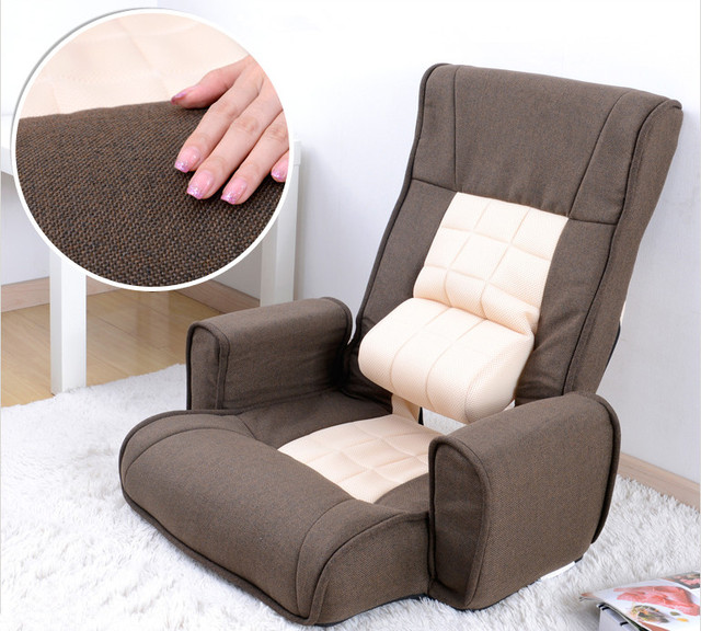 Japanese Fabric Armchair Design Floor Folding 14 Position Adjustable Living  Room Furniture Chaise Lounge Upholstered Arm