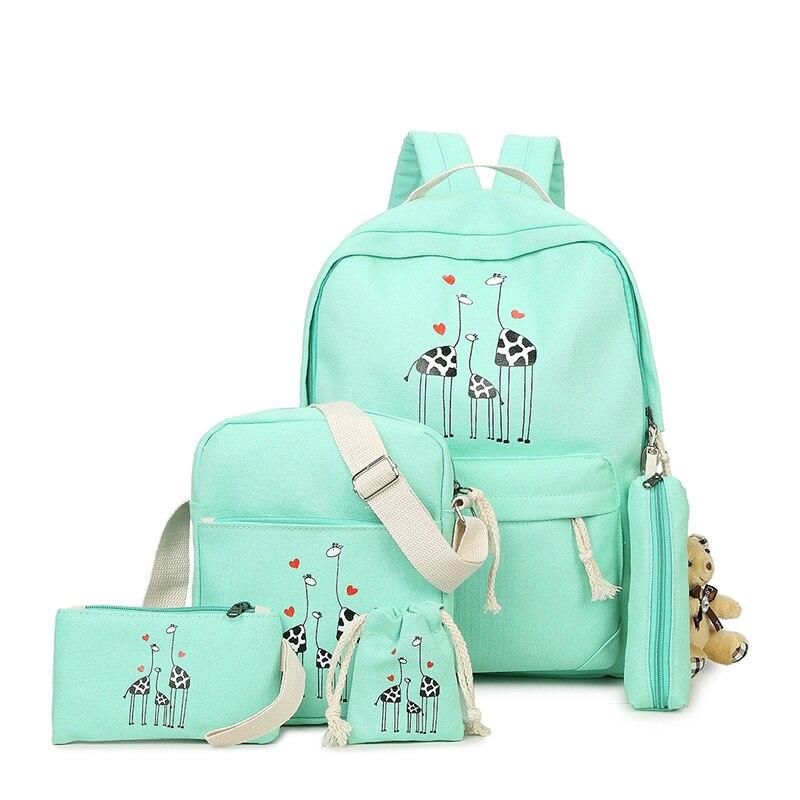 472f66402eb Женский шт./компл. школьный рюкзак с принтом оленя, ...