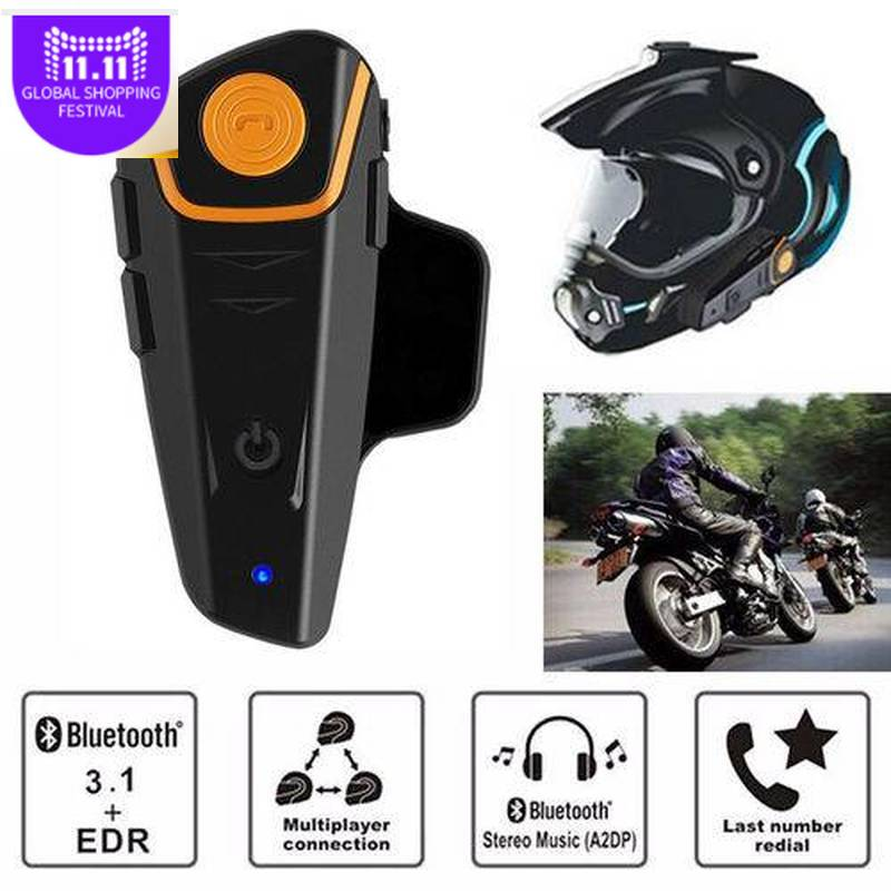 BTS2 1000m Bluetooth Headset Motorcycle Helmet Headphone Speaker Hands-free Music Smart Intercom AutoAnswer FM Wireless Intercom