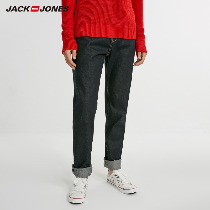 JackJones Men's 100% Cotton Casual Loose Fit   Jeans   Pants Printed Pocket High Quality Fabric Street Fashion Menswear 218332530
