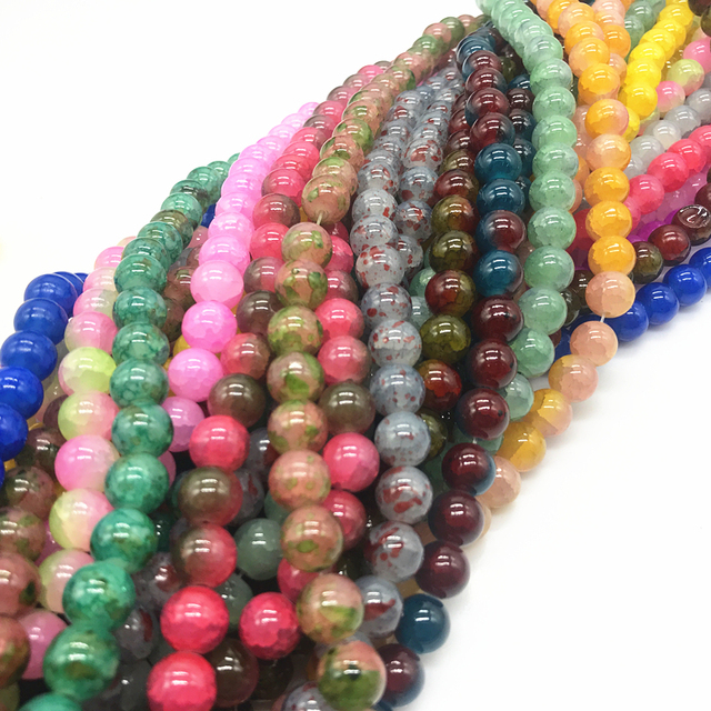 Latest Explosion  Czech Glass Charm Floral beads Loose Spacer Beads Stone DIY Jewelry