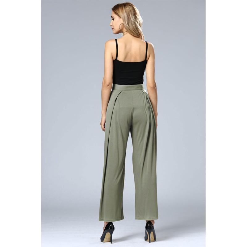HTB11yb5OFXXXXcgXVXXq6xXFXXXY - Wide Leg Pants High Waist Long Pants Button Office Work Wear PTC 186