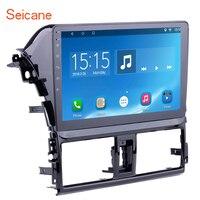 Seicane 10.1 Inch HD 1024*600 inch Android 7.1/6.0 Car Radio GPS Navi Head Unit Player for 2013 2014 Toyota Vios ROM 16GB SWC