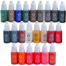 6 Bottle Permanent Tattoo Makeup Ink For Eyebrow And Lip Makeup-20 Color To Choose Tattoo Pigment For Small Design