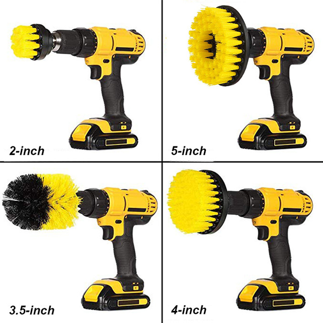 UNTIOR Drill Brush Attachment Set Power Scrubber Brush Bathroom Cleaning Kit with Extender Multipurpose Clean for Kitchen Grout