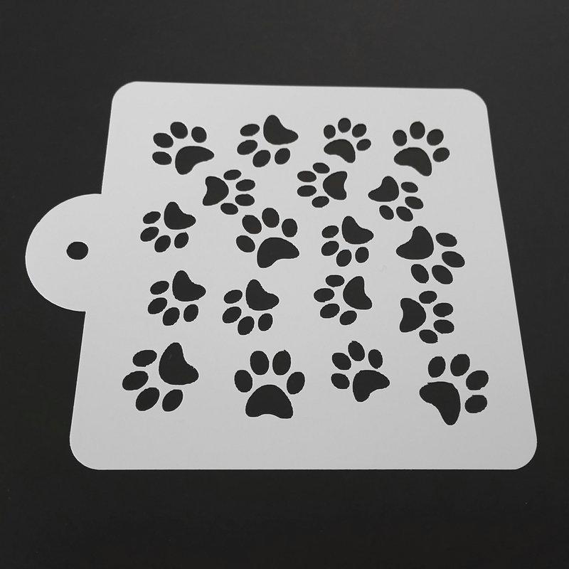Aliexpress.com : Buy LUC 5 Inch Dog Paw Cake Stencil ...