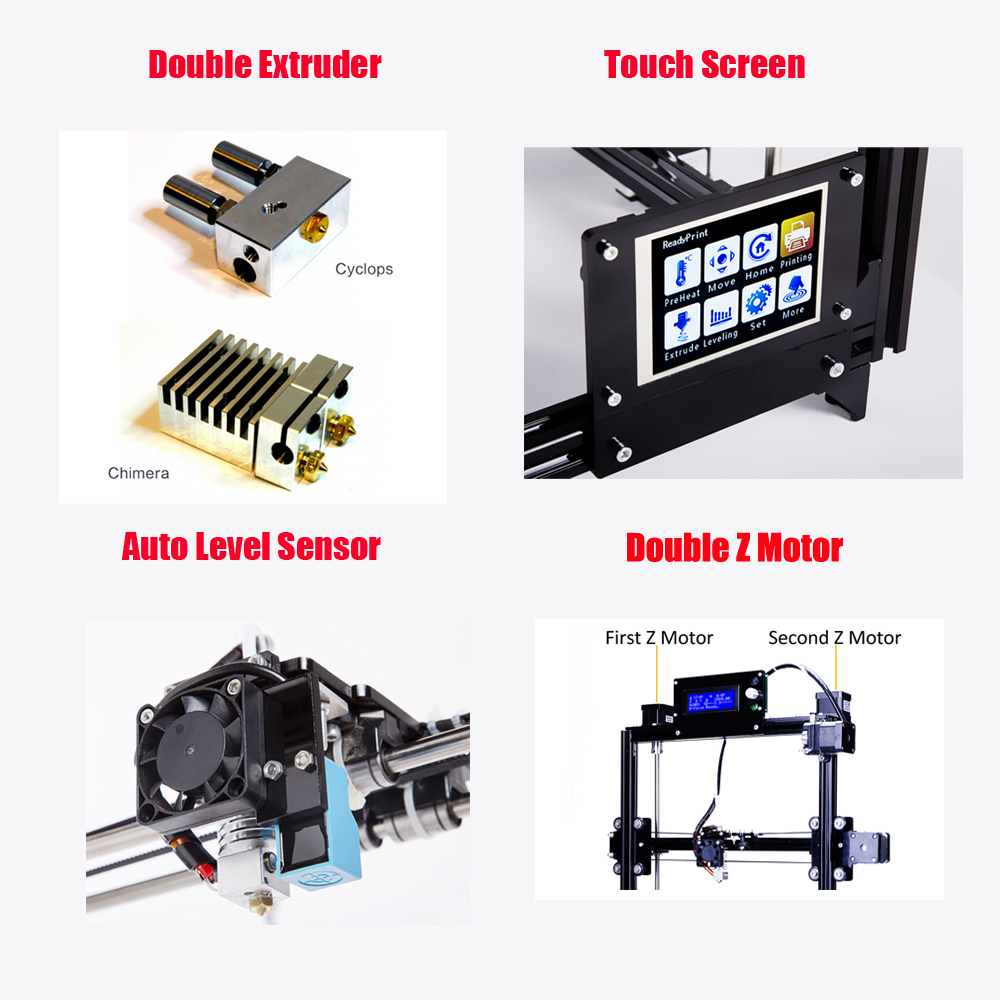 Flsun metall rahmen 3D Drucker Auto Nivellierung DIY 3d-printer Kit Mit Beheizten Bett Eine Rolls Filament Für Freies
