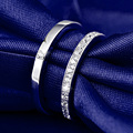 Classic Couple Wedding Rings Simulated Diamond Rings Genuine 925 Sterling Silver Lover Engagement Rings