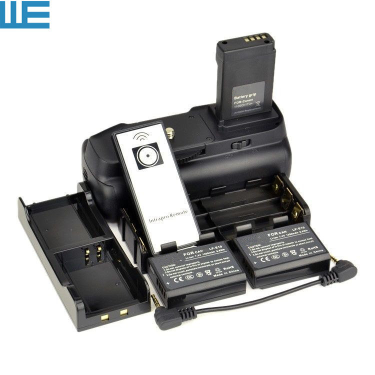 Uchwyt baterii + pilot zdalnego sterowania na podczerwień + 6 uchwyt baterii AA + LP E10 baterii Hold + 2 sztuk LP E10 dla EOS rebel 1100D 1200D T3 T5 T6 pocałunek X50. w Uchwyty do akumulatorów od Elektronika użytkowa na  Grupa 1