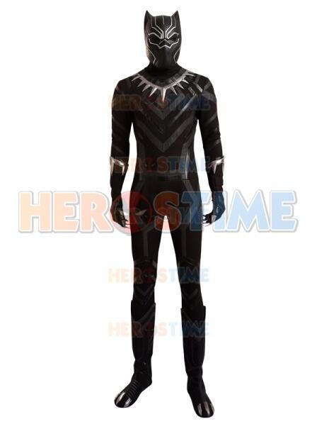 Captain America: Civil War Black Panther Cosplay Spandex Fullbody Superhero Full Set