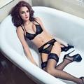 França Moda Ultrafino Sexy Lace Sutiãs e Calcinhas Set Feminino Intimates Estilo Floral Com Tiras do Sutiã