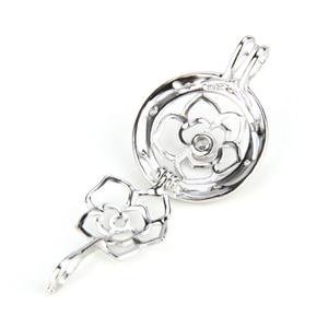 Image 3 - CLUCI colgante de plata de primera ley con forma de bola para mujer, joya para collar, plata esterlina 925, relicario de perlas, 3 uds., SC059SB
