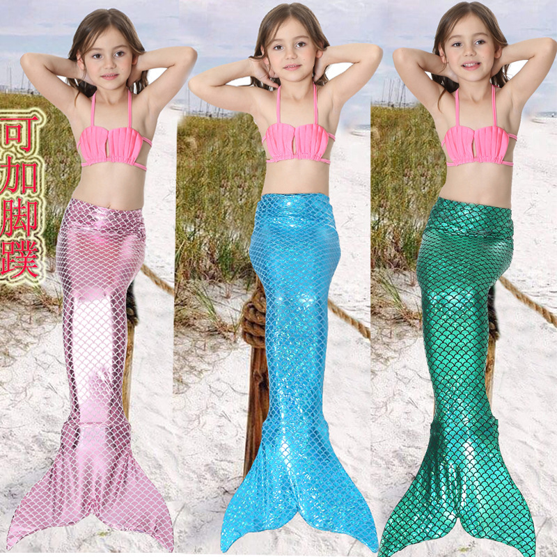 Free shipping Mermaid Costume cosplay 5 colors bikini gift children swimsuit mermaid tail bathing suit