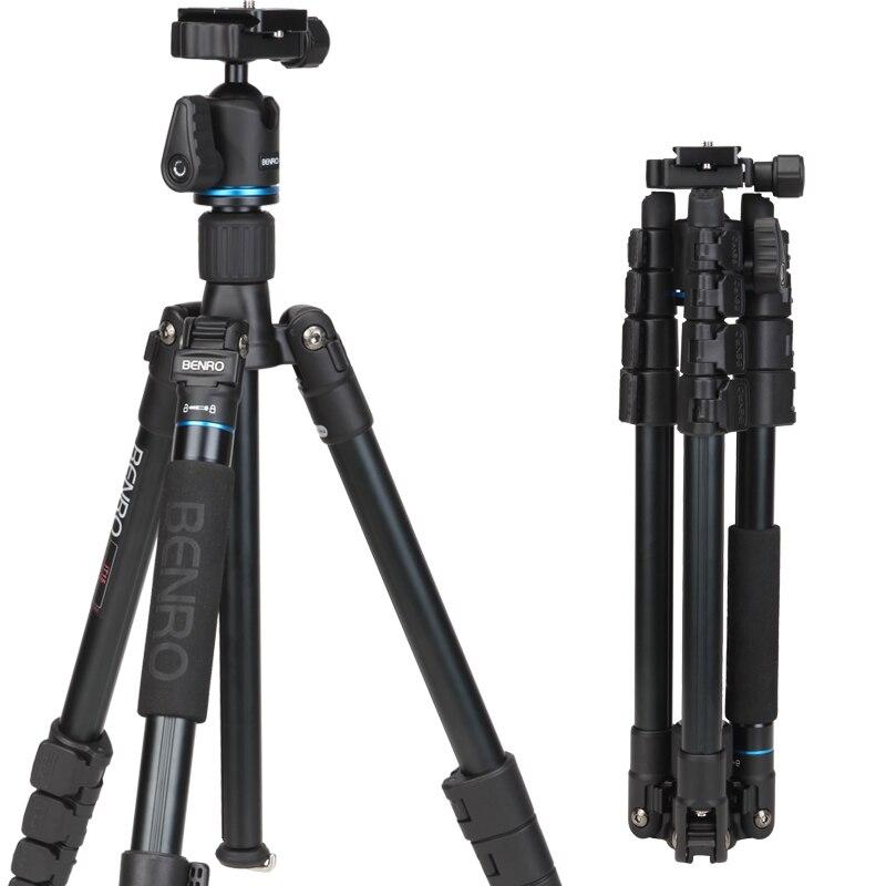 IT15 Portable Aluminium Tripods Travel Monopod Professinal Tripod Kit with Ball Head + Bag for Canon Nikon Pentax SLR Camera DV
