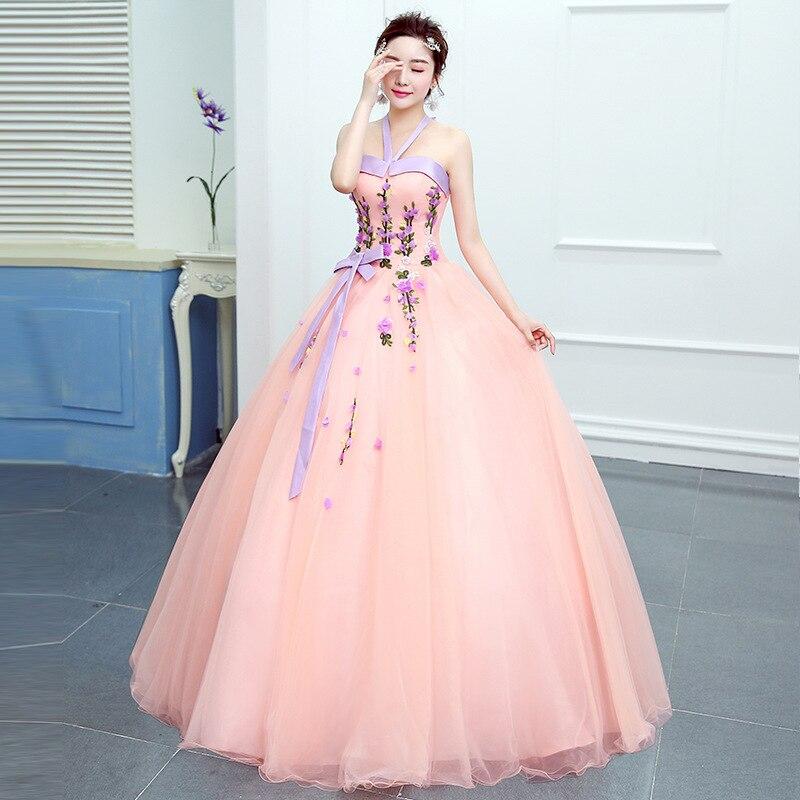 Quinceanera Dresses Cheap Vestidos De Quince Anos 2016 Long Puffy Ball Gowns Light Pink Quinceanera Dresses Quinceanera Kjole To Have A Long Historical Standing