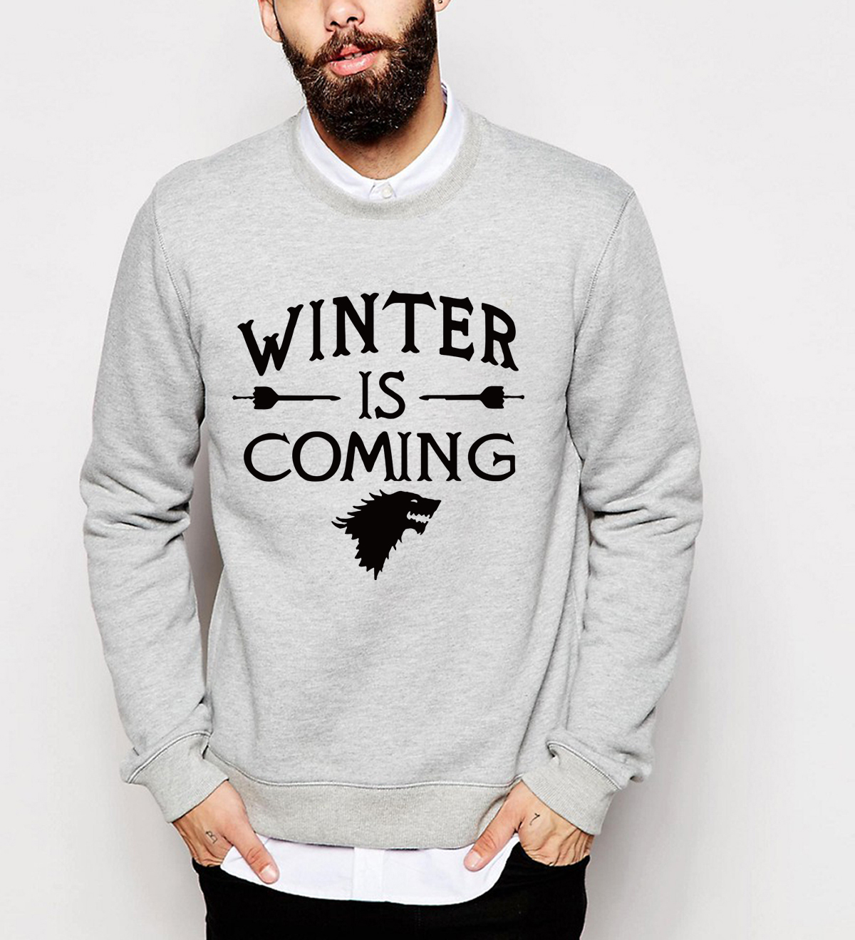 Game of Thrones  winter is coming 2019 new autumn winter harajuku men sweatshirt hoodies hip hop streetwear brand  funny
