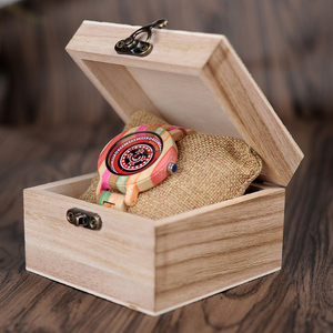 Image 5 - BOBO BIRD WP08 Colorful Bamboo Wood Watch for Women Print Dial Face Wooden Band Quartz Watches as Gift Accept OEM Dropshipping