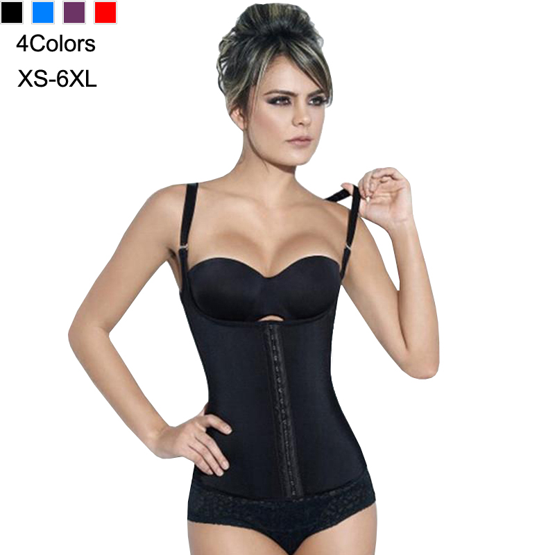Women Corset Vest Latex Waist Slimming Corsets Shapewear Bustier Gothic Steampunk Cincher Rubber Steel Boned XS-6XL