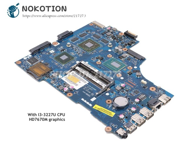 NOKOTION CN 00P6TK VAW00 LA 9104P For Dell Inspiron 15 3521 Laptop  Motherboard HD7670M SR0XF I3 3227U CPU