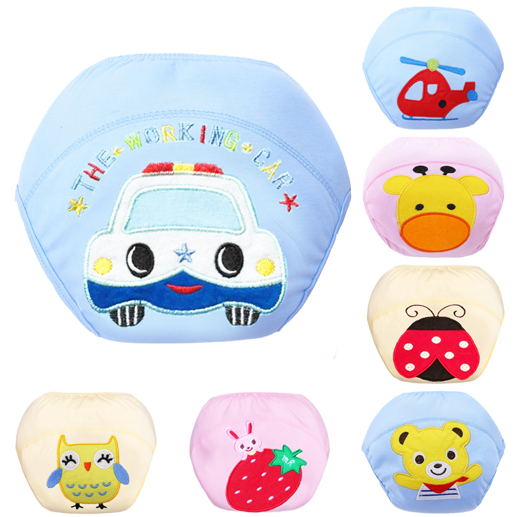 1pcs Cartoon Baby Training Pants Waterproof Diaper Pant Potty Toddler Panties New Underwear Reusable Free Shipping