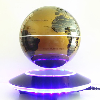 globe 6 pouces or support led plat