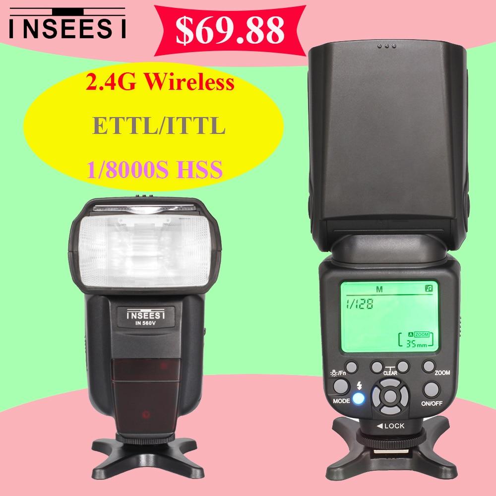 ФОТО INSEESI IN 560 V Wireless 2.4G TTL HSS 1/8000S Flash Speedlite For Nikon Canon vs YONGNUO YN565EX YN685 YN-565EX YN-560 IV MK910