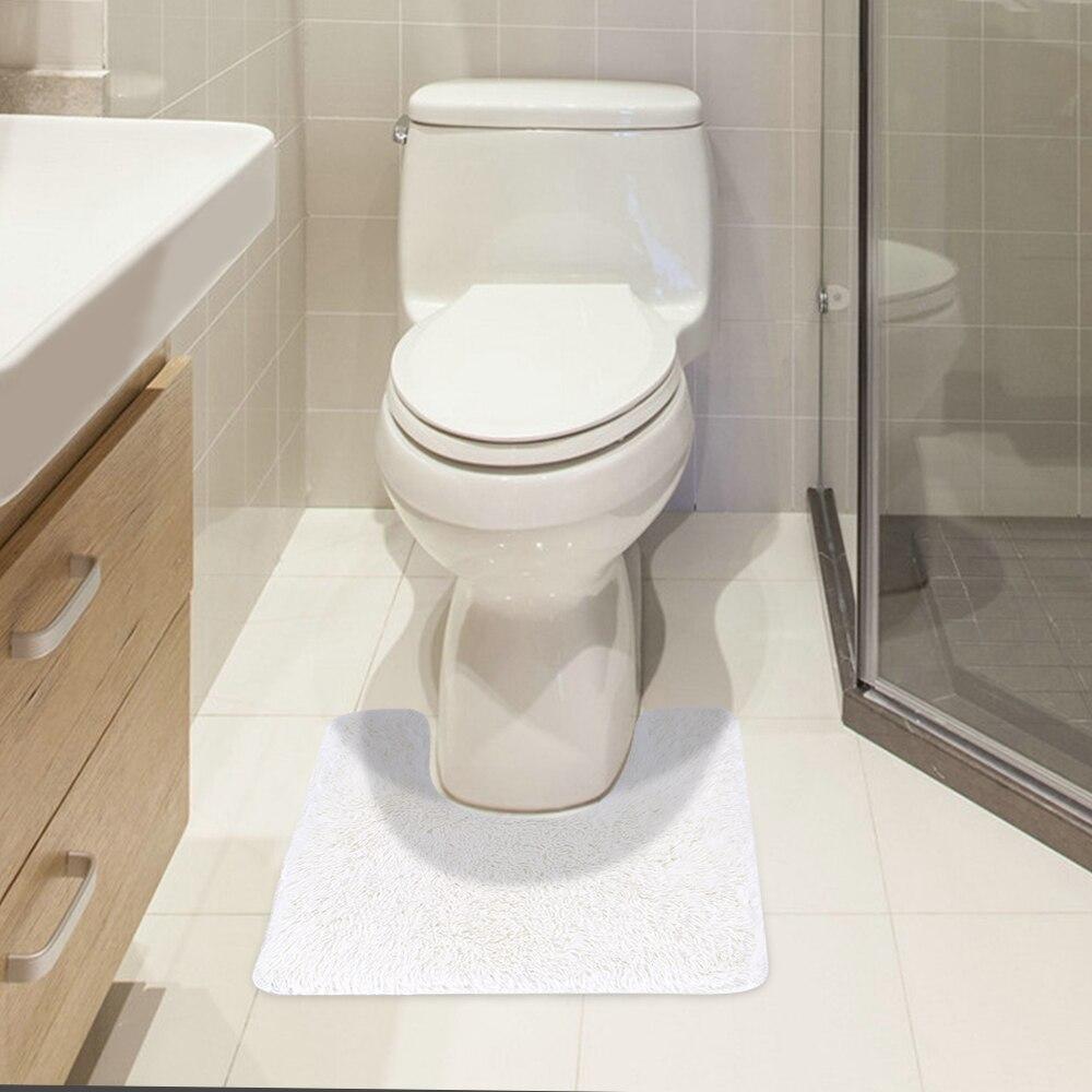 U shaped Soft Plush Bathroom Rug Non slip Water Absorbent Shaggy ...