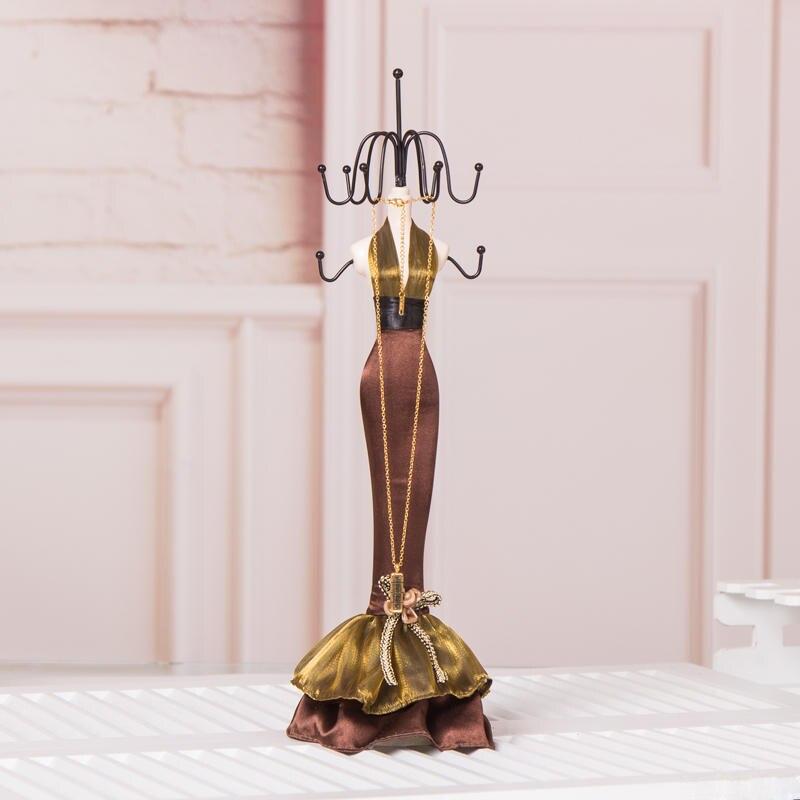 Meilleur Organisateur Bijoux affichage Exhibidor pour jadéite Bijoux collier Bracelet anneau boucles d'oreilles ensembles de décoration de mariage - 2