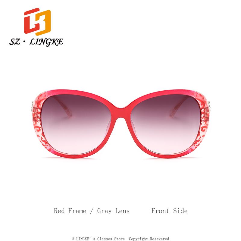 c82a06dd6a SZLINGKE Marca de Diseño de Moda de Las Mujeres gafas de Sol Lentes de  Gradiente Corona PC Marco Clásico Retro gafas de Sol de Las Mujeres UV400  ...
